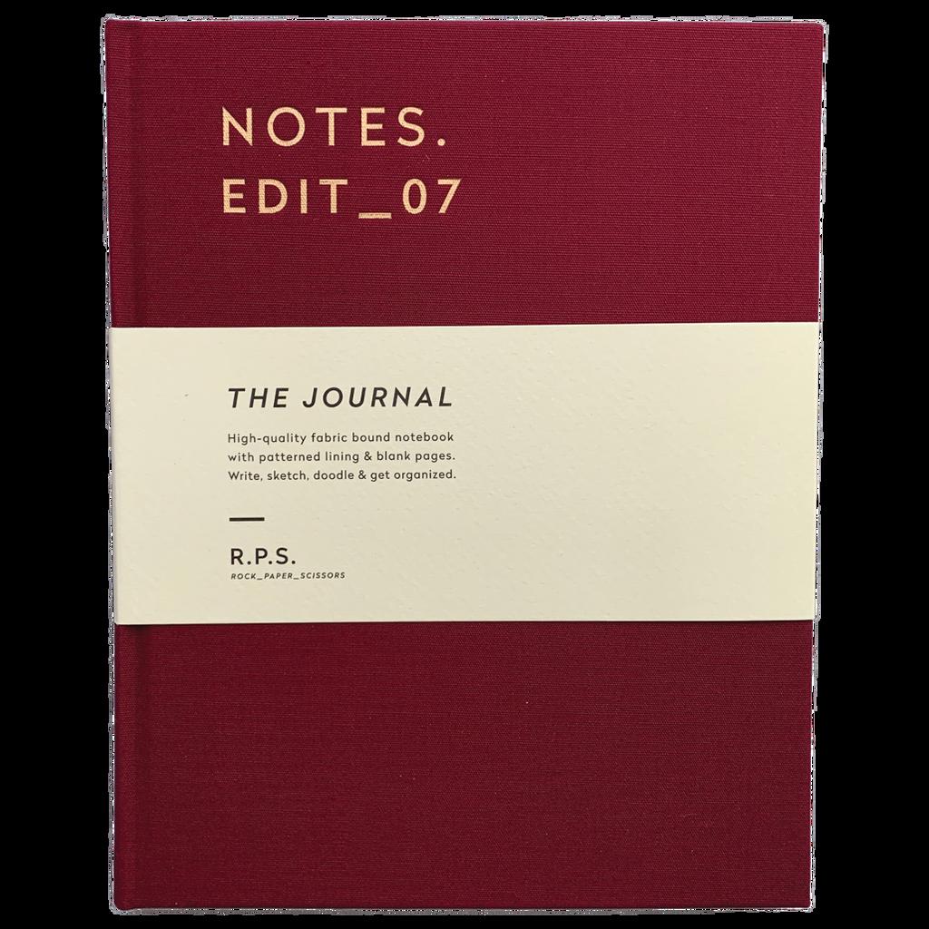 Burgundy Lined Journal