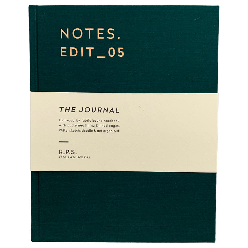 Forest Green Lined Journal