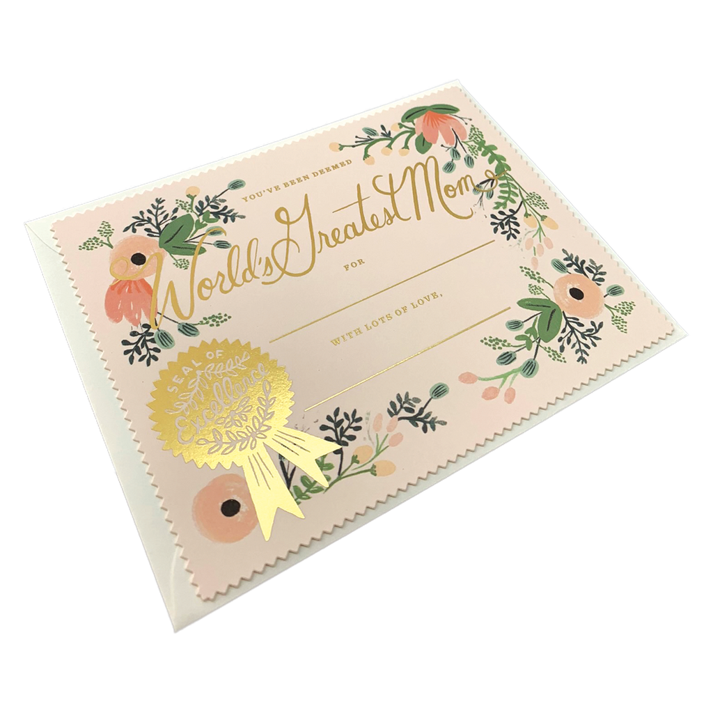 Greatest Mom Certificate