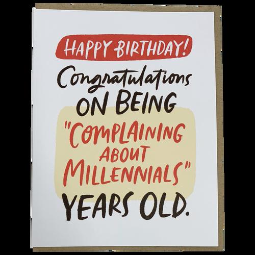 Complaining about Millennials