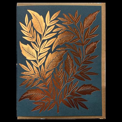 Copper Foliage Foil Stamped