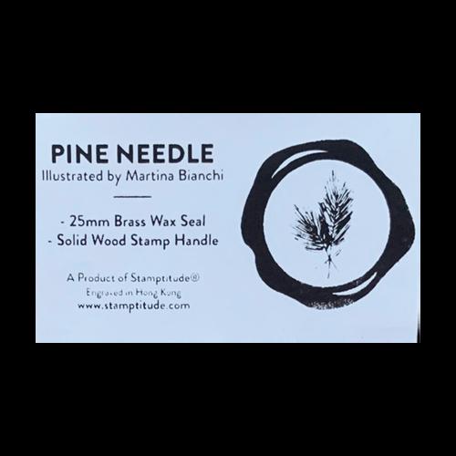 Pine Needle Wax Stamp