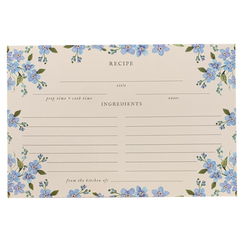 Forget Me Not Recipe Cards