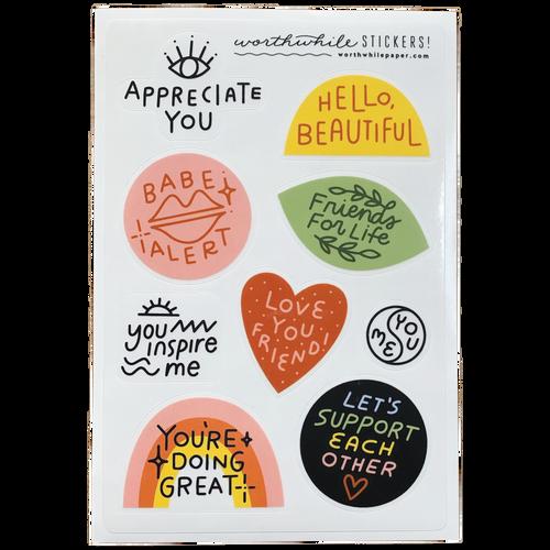 Friendship Sticker Sheet