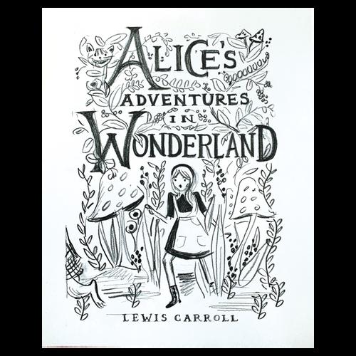 Alice Sketch Print