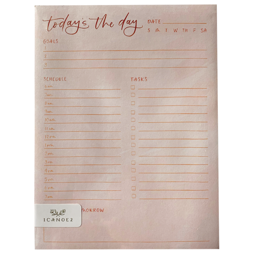 Peach Today Notepad