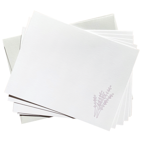 Lavender Flat Card Set
