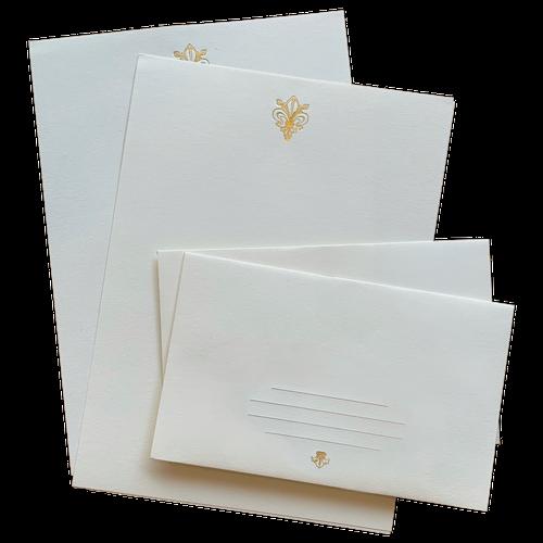 Fleur de Lis Letter Sheet Set