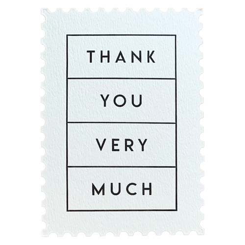 Thank You Very Much Postcard