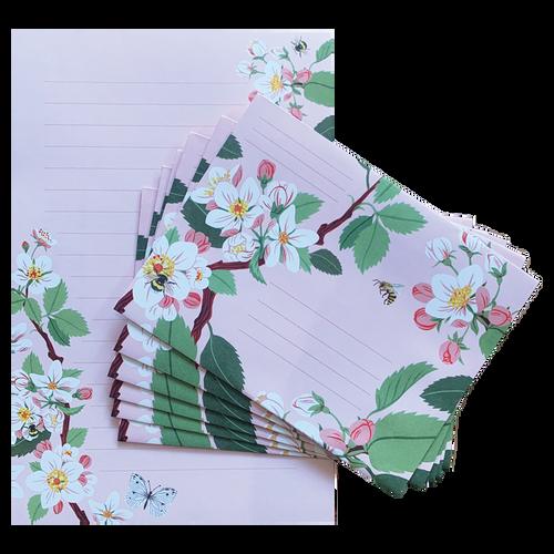 Apple Blossom Writing Set