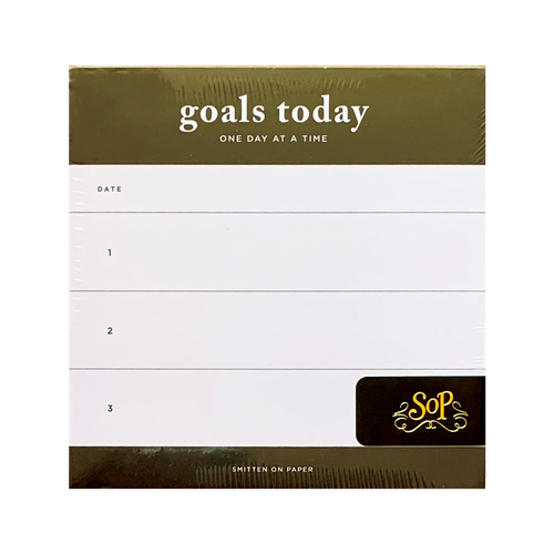 Goals Today Chunky Notepad