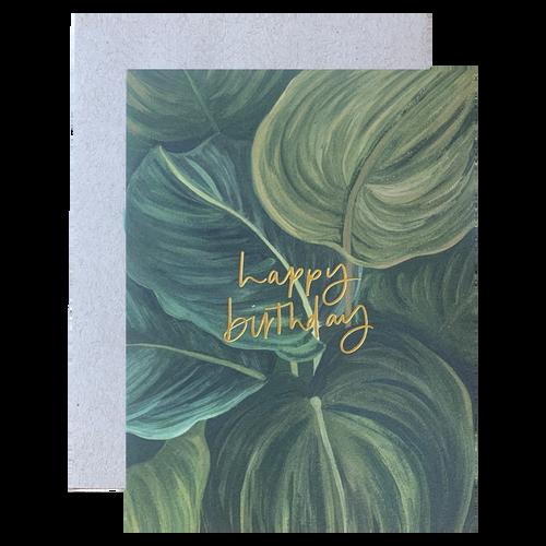 Green Leaves Birthday