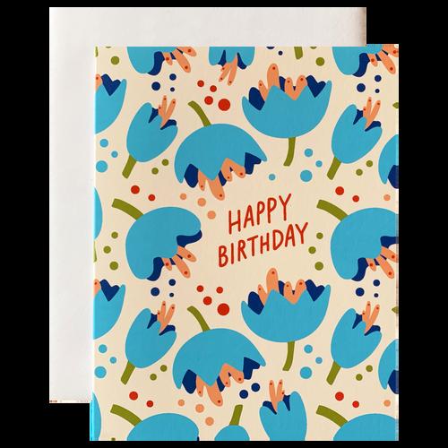 Blue Flowers Birthday