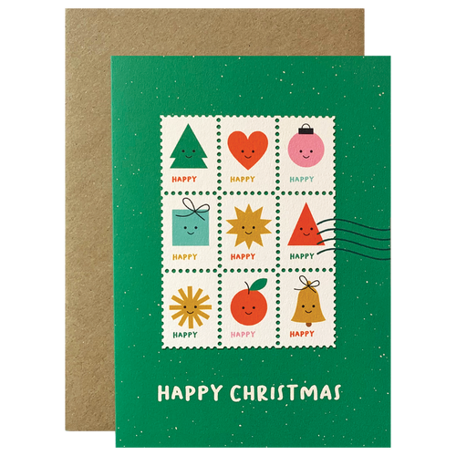 Happy Christmas Stamps