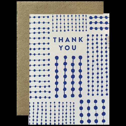 Blue Pattern Thank You
