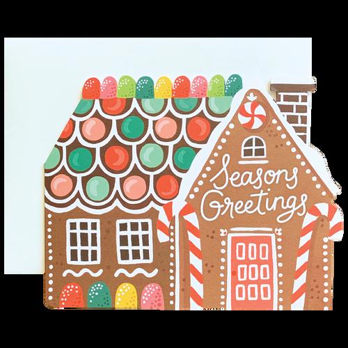 Die-Cut Gingerbread House