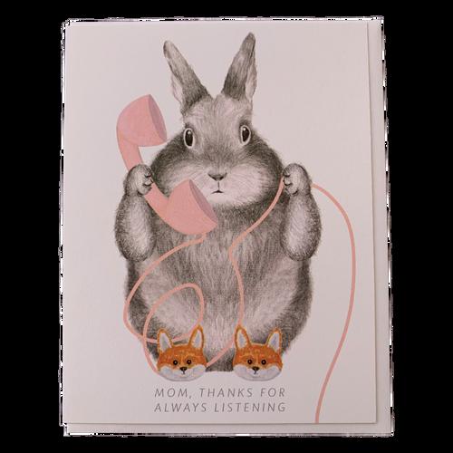 Bunny in Fox Slippers