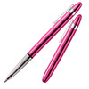 Fisher Bullet Pen Fuchsia Flurry w/Chrome Plated Tip And Clip