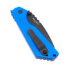 Protech 2403-Blue Strider SnG Solid Blue Aluminum DLC Black Blade