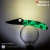 Spyderco Delica 4 ZOME Glow in the Dark *Distributor Exclusive*