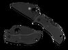Spyderco MBKWBK Manbug Wharncliffe , Black Blade