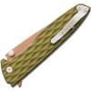 Gerber One Flip Green Aluminum Handle w/ Rose gold finish blade.
