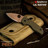 Spyderco C230GPODFDE *REC EXCLUSIVE* Lil' Native FDE Coated 204P, OD G10