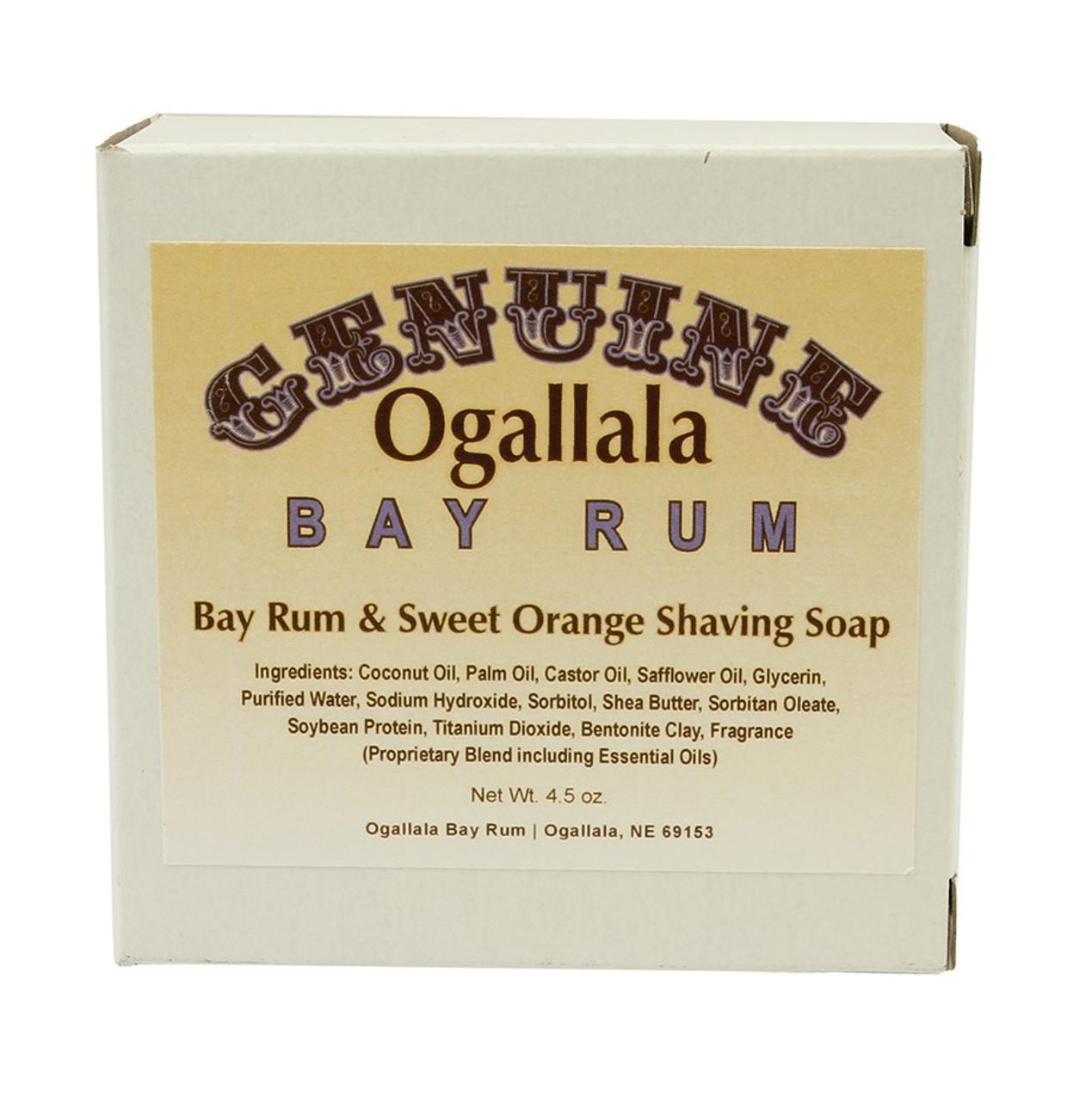 Ogallala Bay Rum & Sweet Orange Shave Soap, 4.5oz