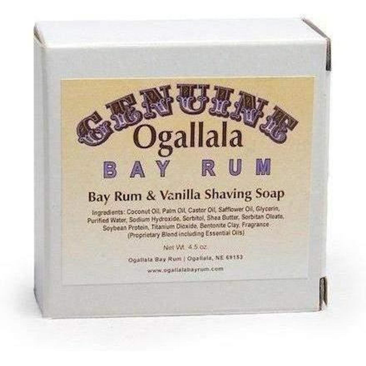 Ogallala Bay Rum & Vanilla Shave Soap, 4.5oz