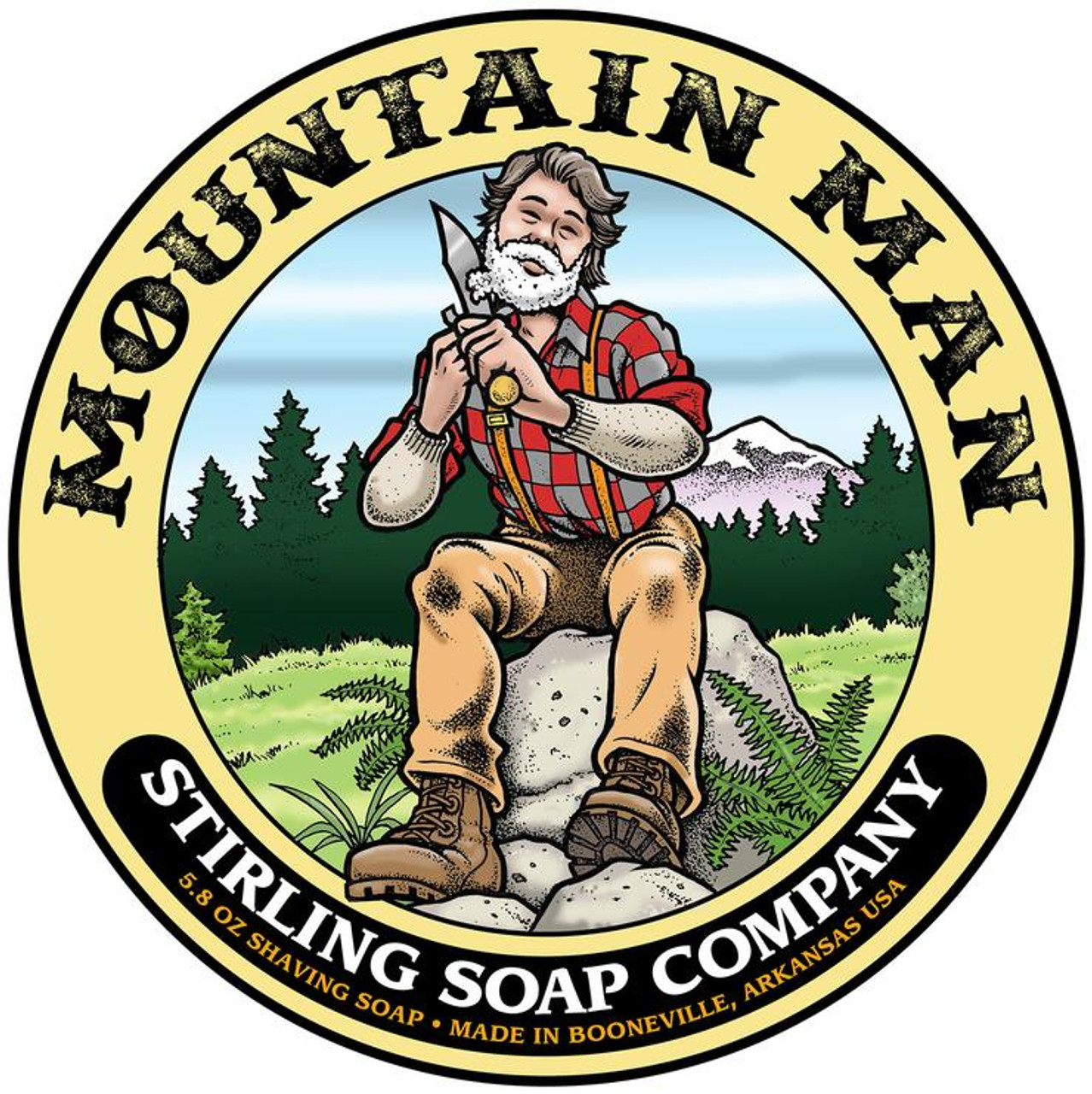 Stirling Mountain Man Shave Soap 5.8oz