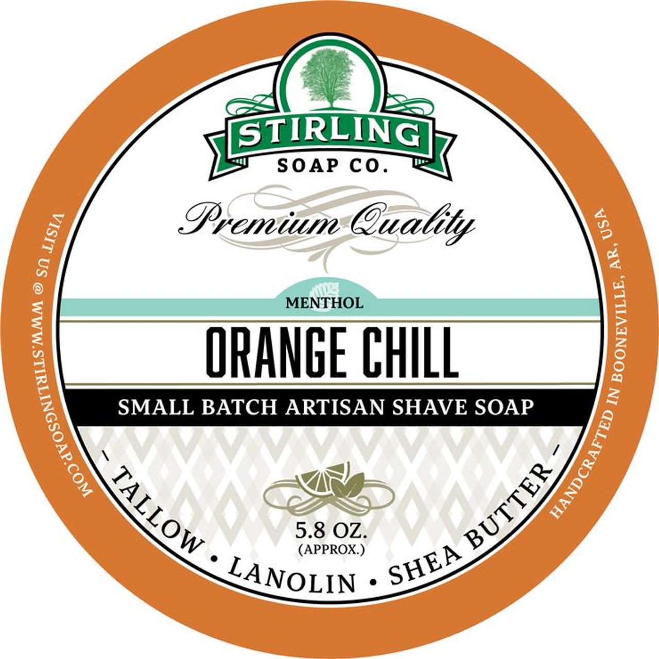 Stirling Orange Chill Shave Soap 5.8oz