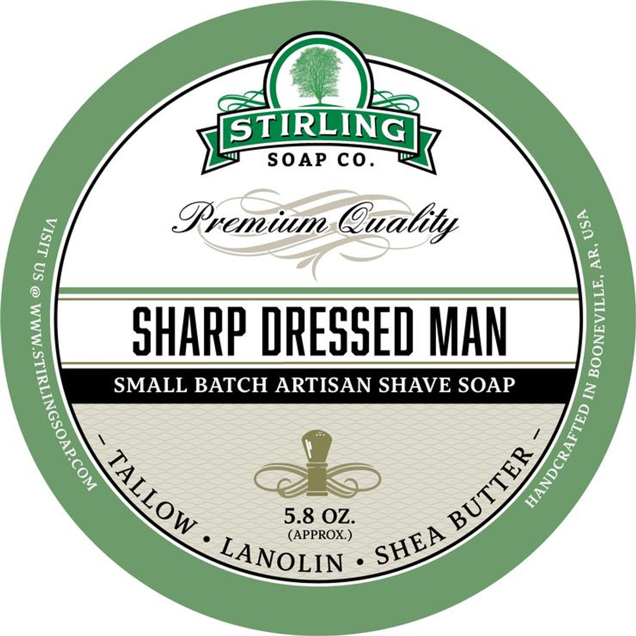 Stirling Sharp Dressed Man Shave Soap 5.8oz