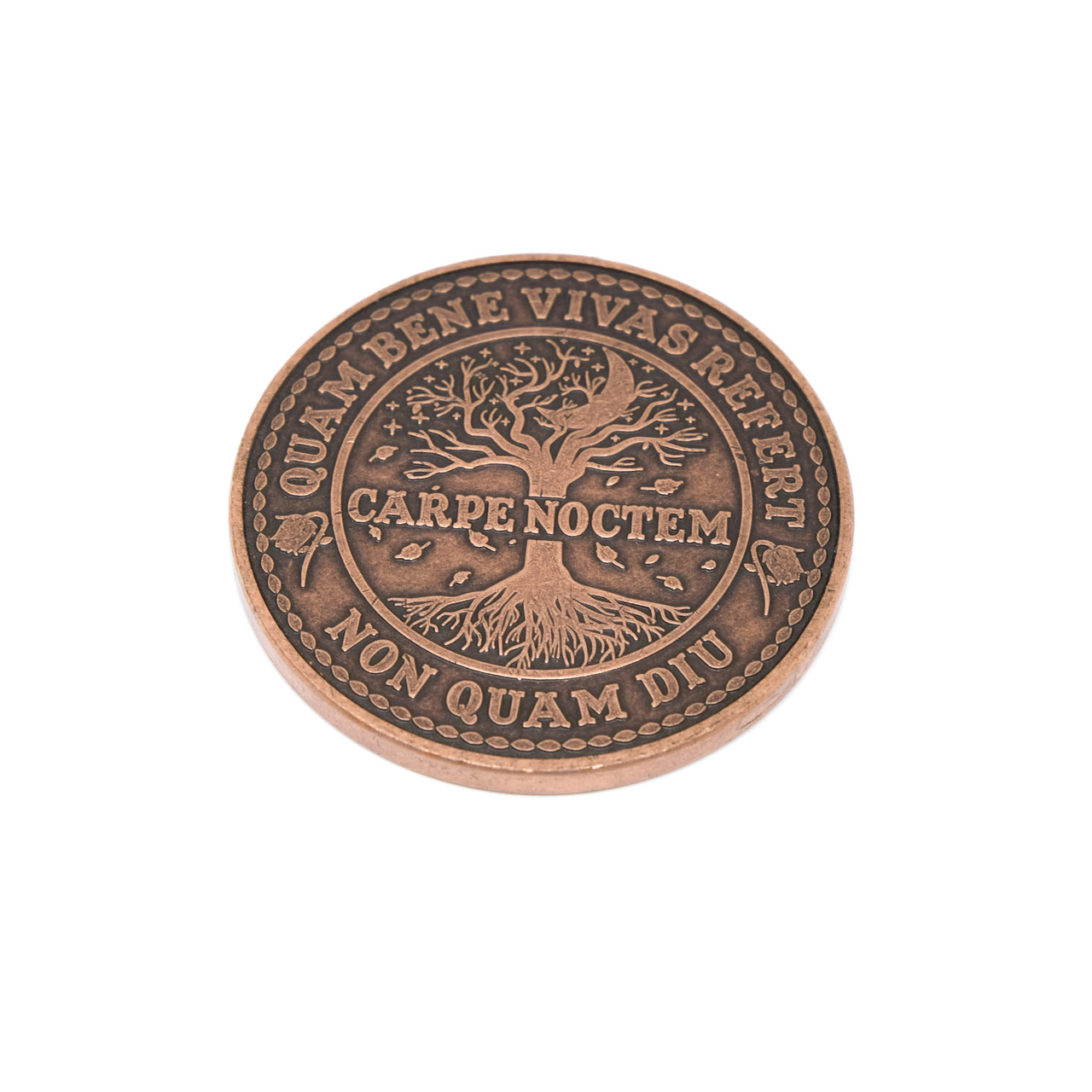 Carpe Noctem Coin Antique Copper ACU