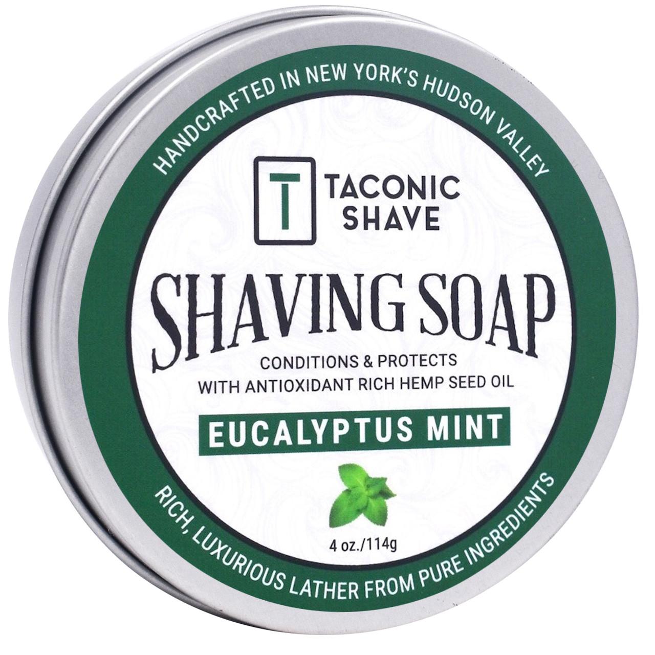 Taconic Shave Soap Eucalyptus Mint 4oz