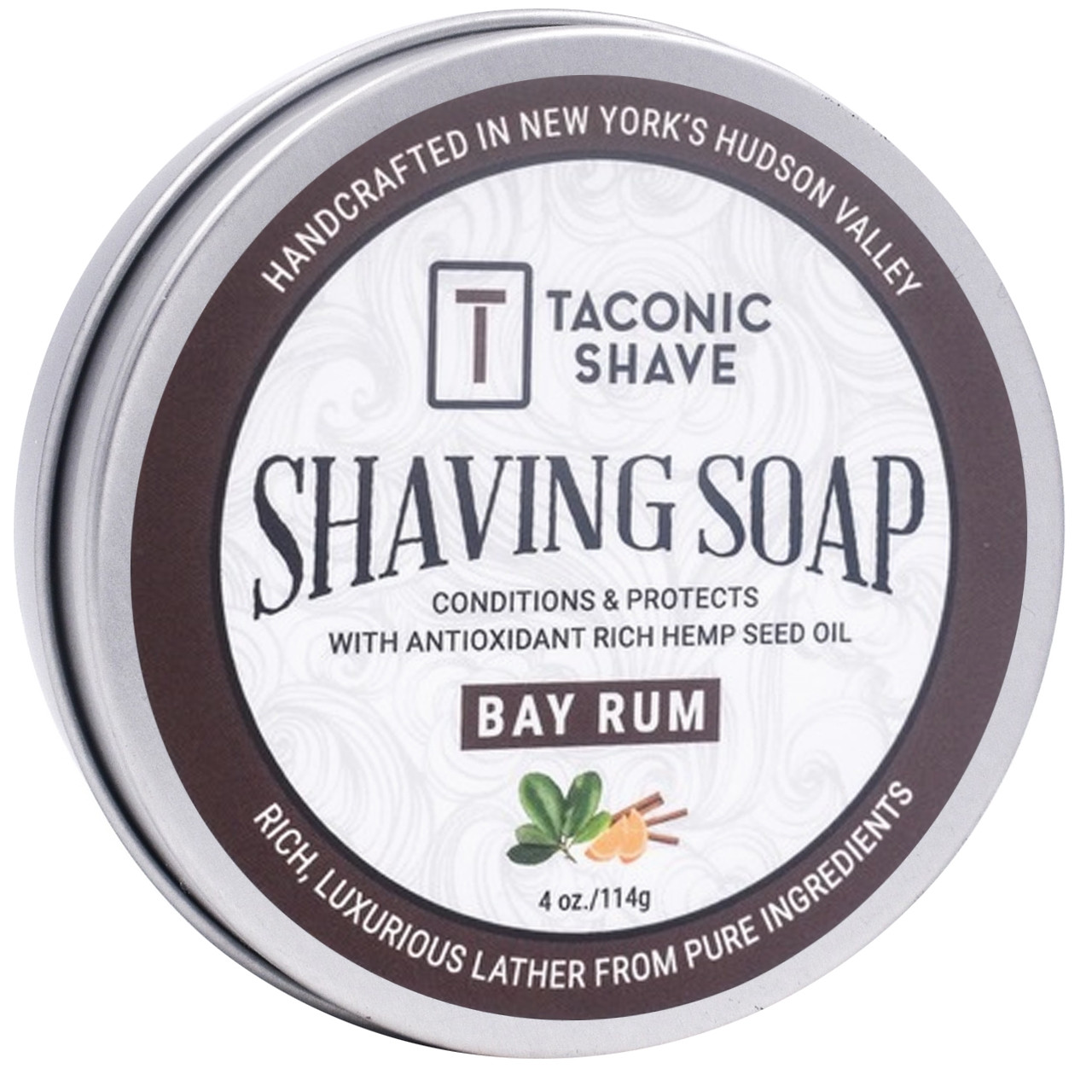 Taconic Shave Soap Bay Rum 4oz