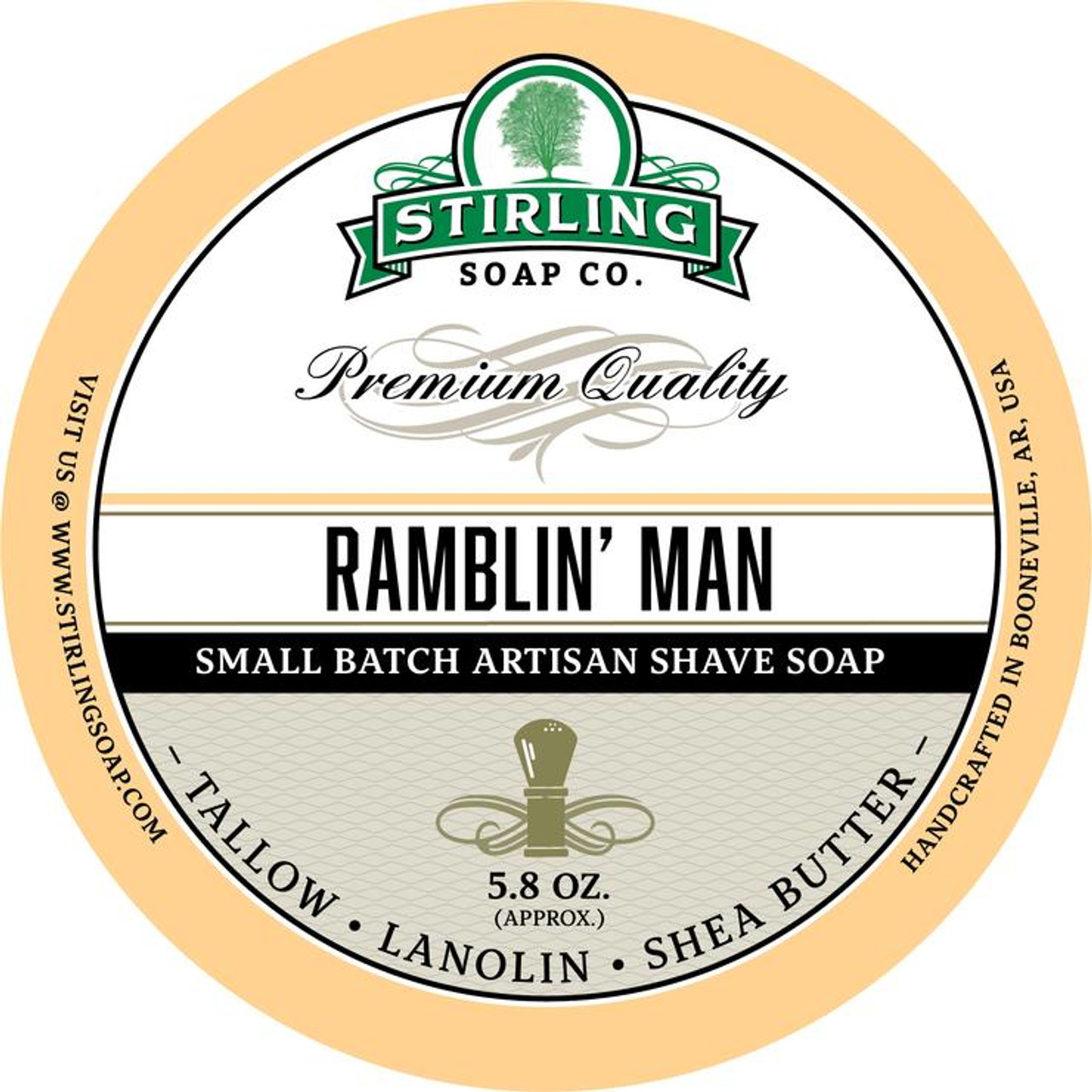 Stirling Ramblin Man Shave Soap 5.8oz