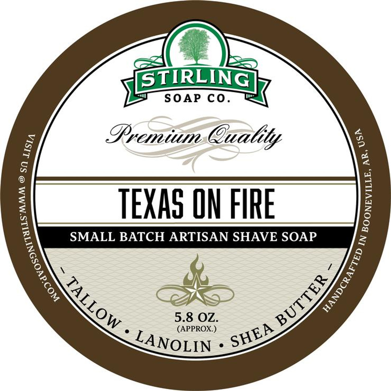Stirling Texas on Fire Shave Soap 5.8oz