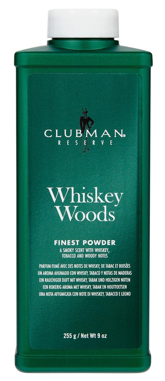 Clubman Whiskey Woods Powder 9oz.