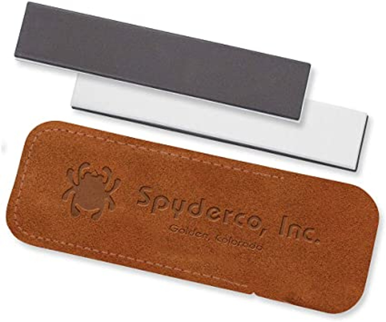 Spyderco 303MF Double Stuff Sharpening Pocket Stone, Fine and Medium Grits