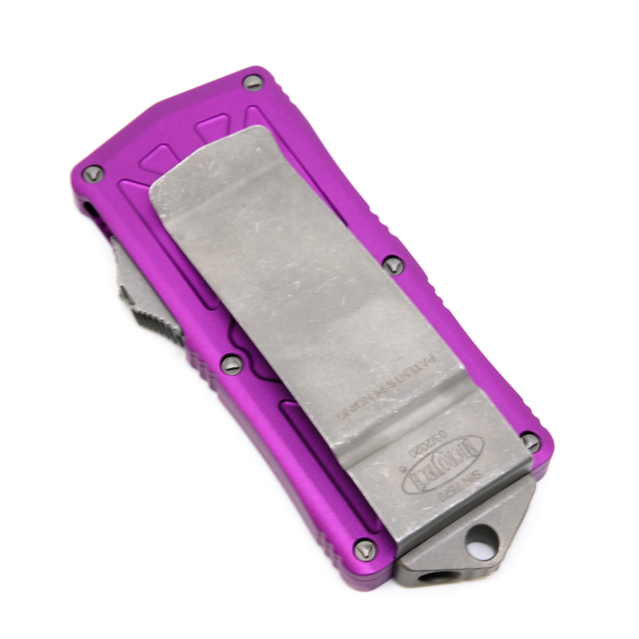 Microtech 157-10APVI Exocet Violet Apocalyptic Standard M390