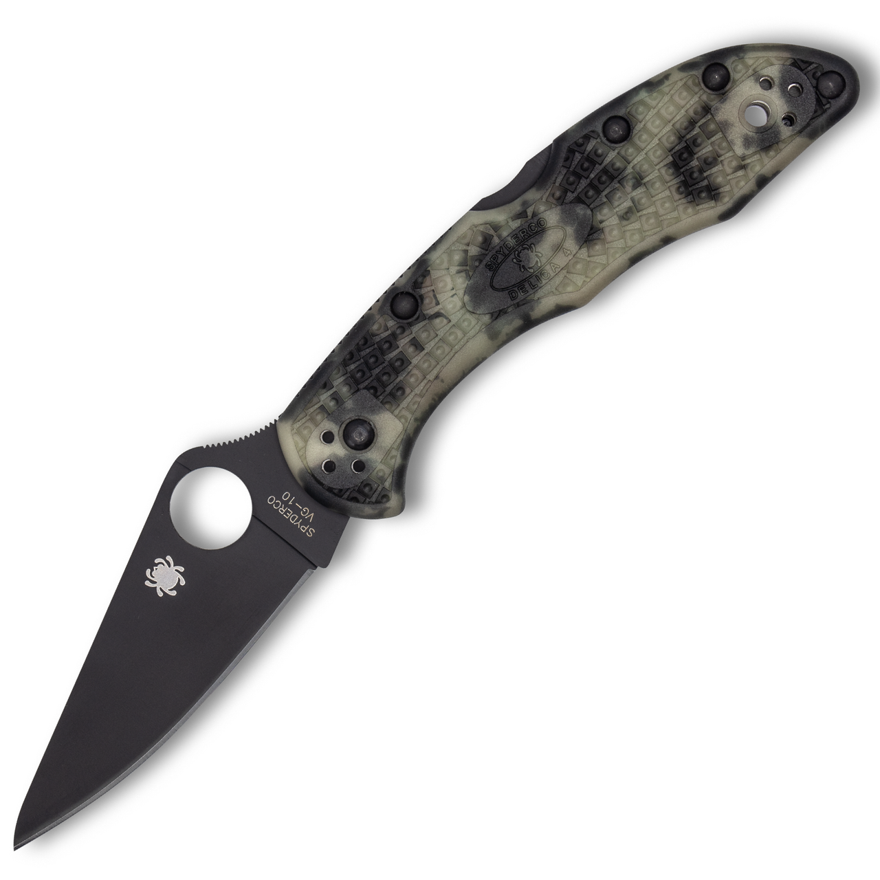 Spyderco Delica 4 ZOME Glow in the Dark, Black Blade *Distributor Exclusive*
