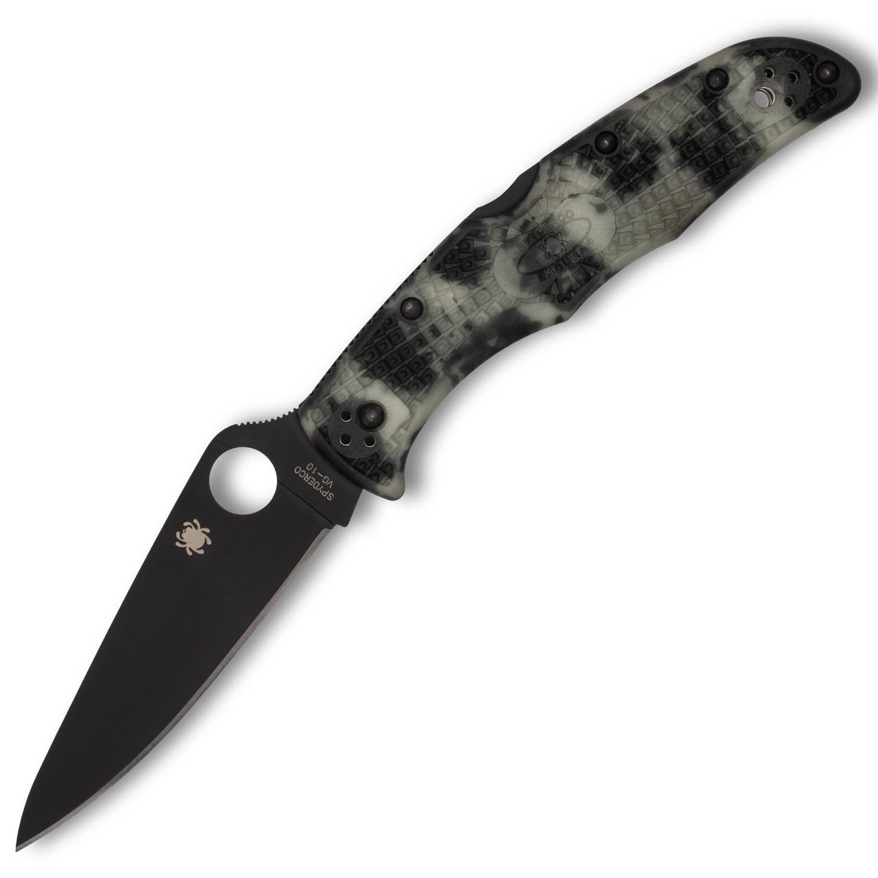 Spyderco C10ZFPGITDBK Endura 4 ZOME Glow in the Dark, Black Blade *Distributor Exclusive*