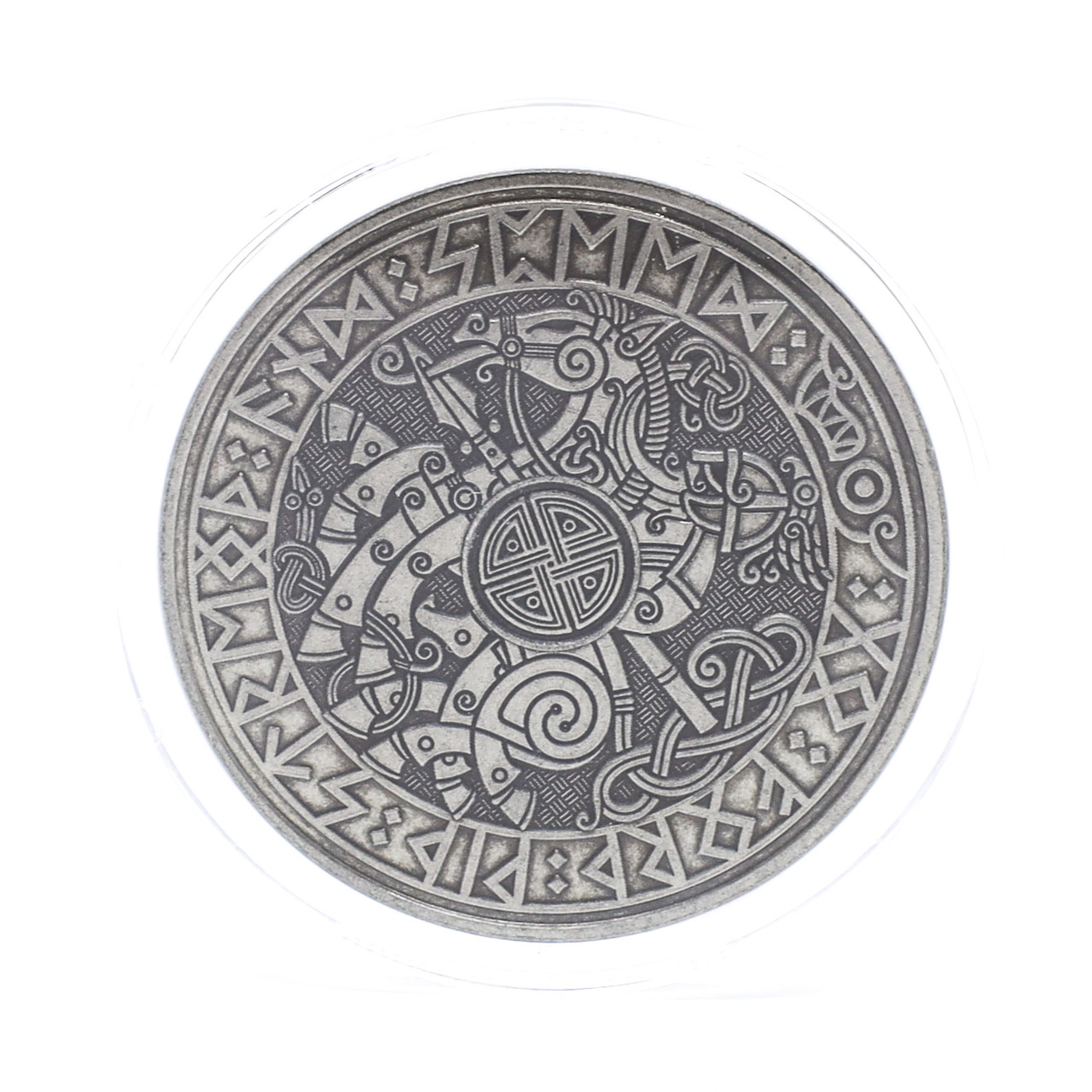 Carpe Diem Viking Travel Coin ANS Antique Nickel Finish