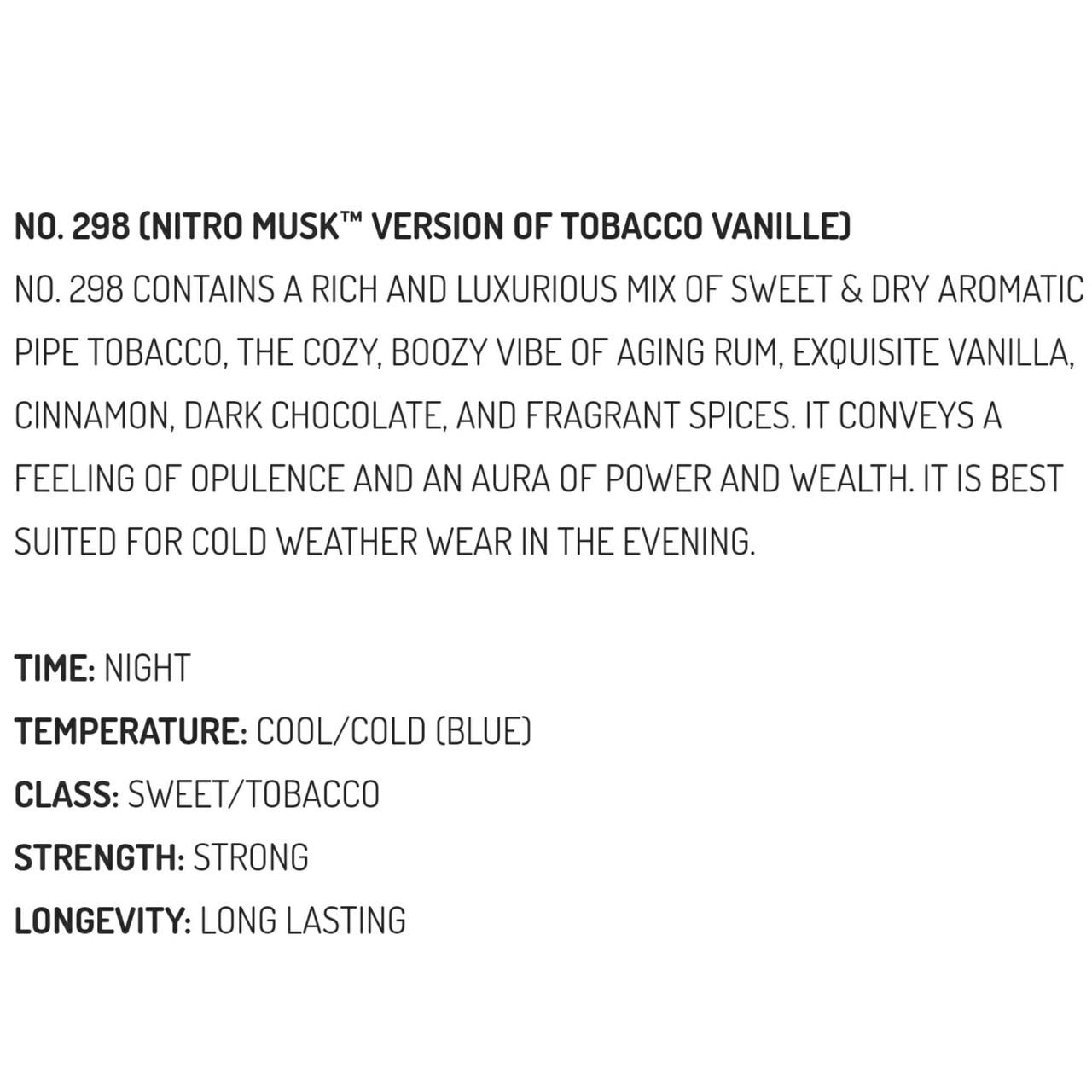 Musk & Hustle No. 298 Nitro Stubbie (Version of Tobacco Vanille)