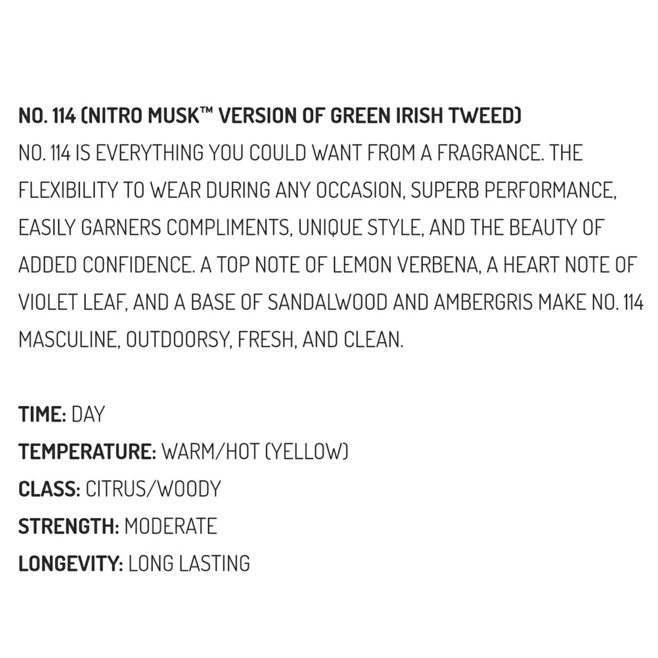Musk & Hustle No. 114 Nitro Stubbie (Version of Green Irish Tweed)