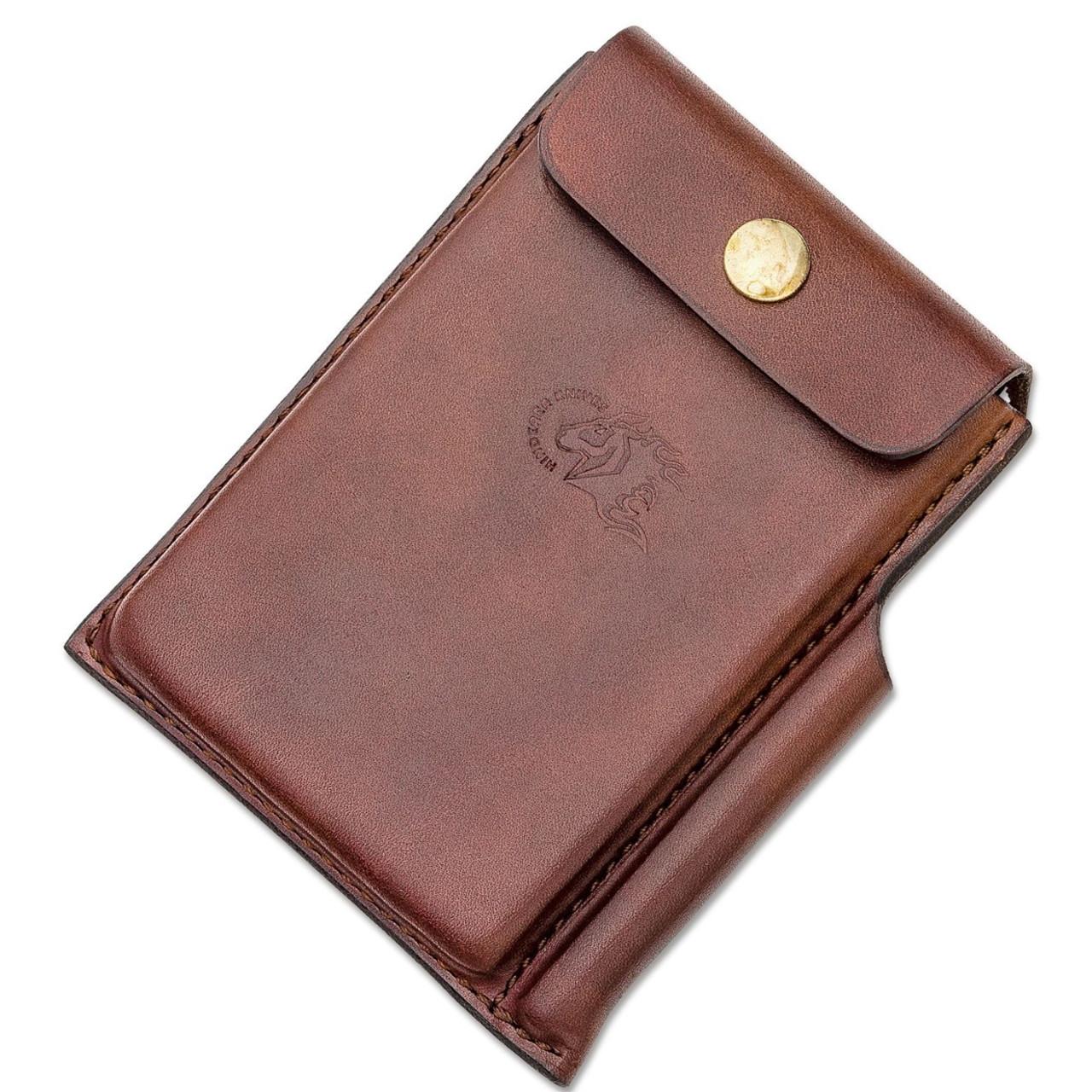 Hinderer Notebook Case, Light Brown Leather