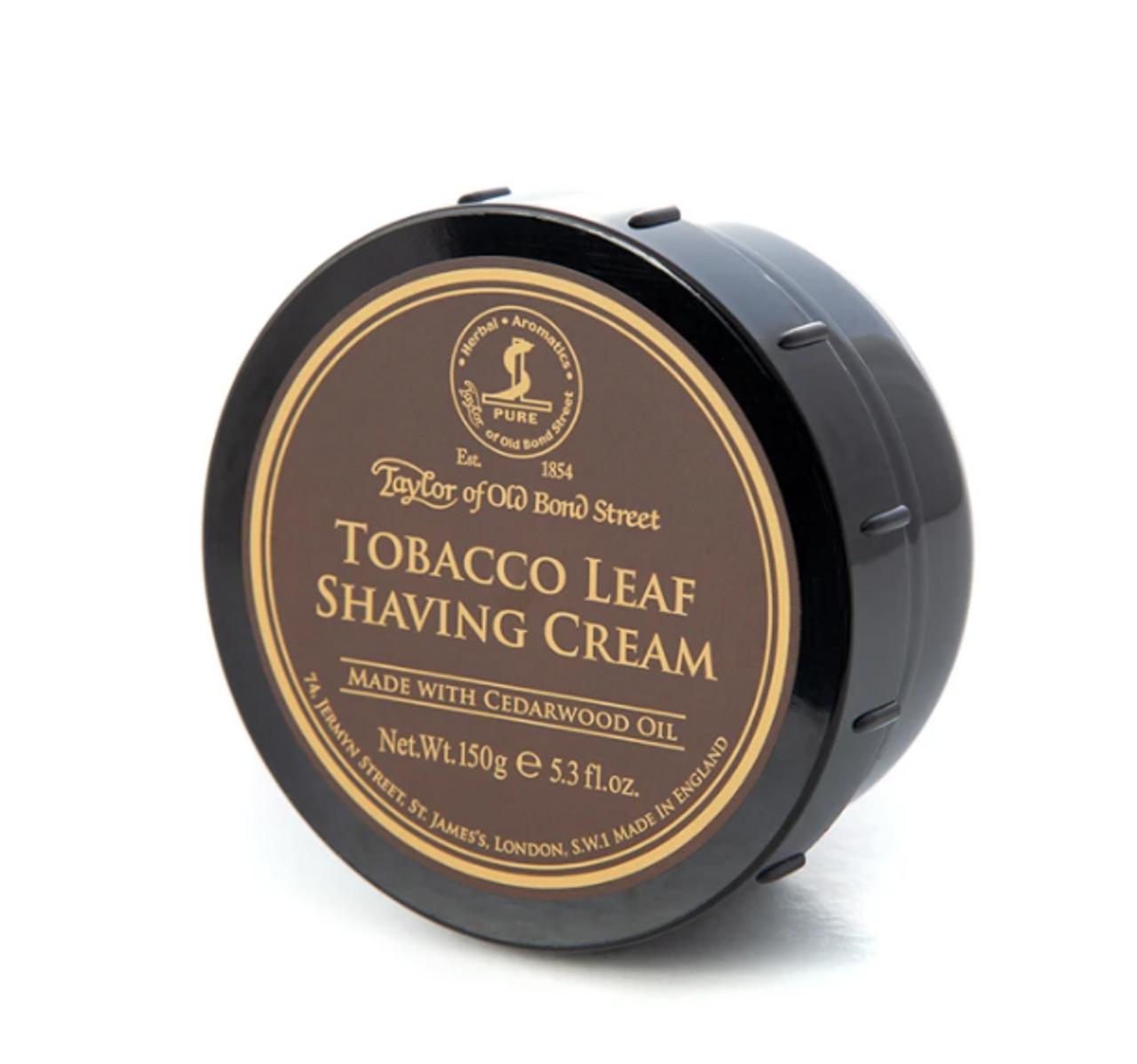 Taylor of Old Bond St Tobacco Leaf Shave Cream 5.3 fl.oz.