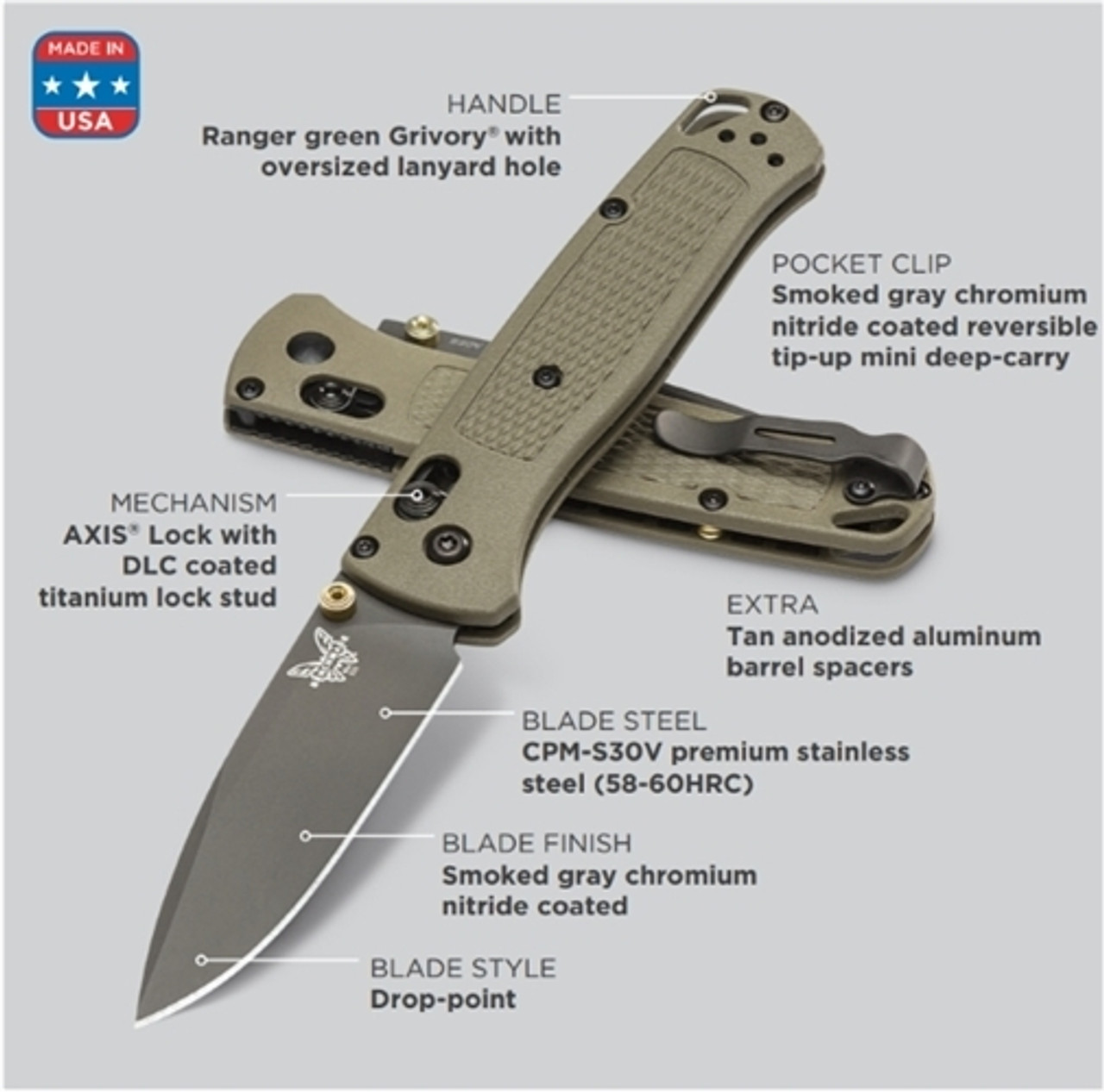 Benchmade 535GRY-1 Bugout