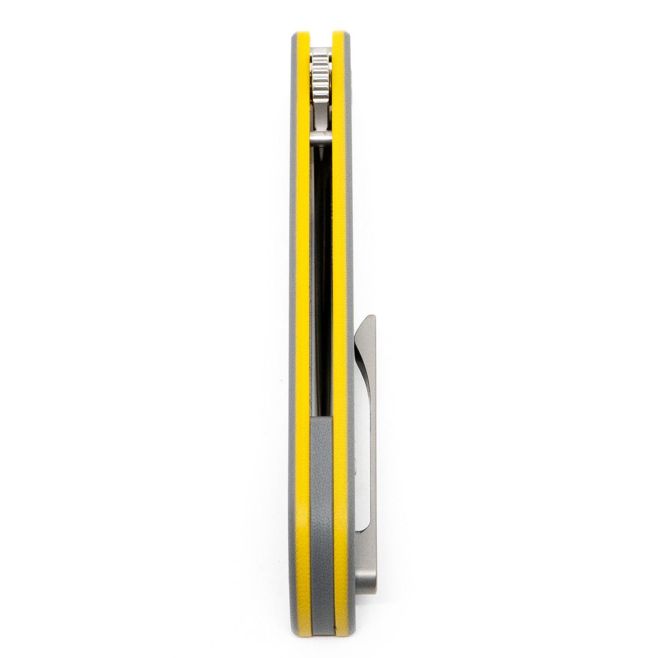 Finch Cimarron ~ Gray/Yellow G10 Satin 14C28N