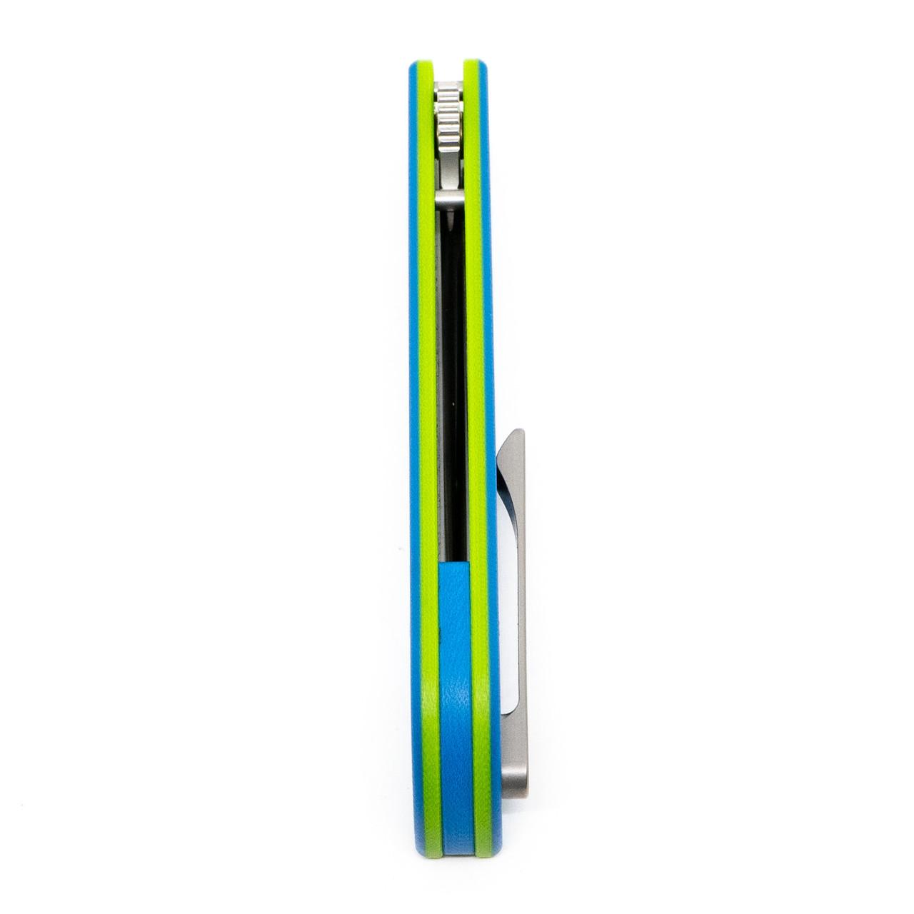 Finch Cimarron ~ Blue/Green G10 Satin 14C28N